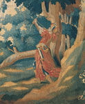 Detail of hunting tapestry