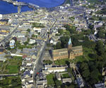 Aerial view of Kirkwall, Orkney, c.1970s