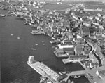 Aerial view of Stromness, Orkney, c.1970s