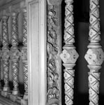 Detail of staircase balustrade, first-floor staircase, Egremont, No 38 Dick Place, Edinburgh