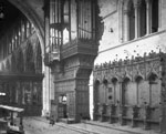 Late 19th-century view of the north side of the Choir, Dunblane Cathedral, Dunblane, Stirling, looking towards the nave
