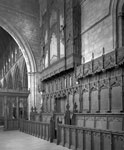 Early 20th-century view of the north side of the Choir, Dunblane Cathedral, Dunblane, Stirling, towards the nave