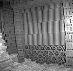 Interior of loaded kiln, Cruden Bay Brick & Tile Works, Aberdeenshire