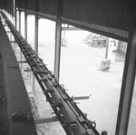 Conveyor from press to kiln, Broadlie Brick Works, Dalry, North Ayrshire