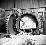 Autoclave with load, Ballochmyle Brick Works, Knowehead Quarry, Dumfries & Galloway