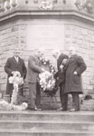 Placing wreaths on the memorial