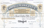 Campbell, Achnach & Co Ltd, Glasgow, letterhead 1918