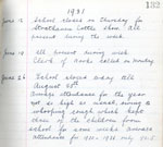 Extract from Log Book of Barnock Public School, Strathaven, 1931