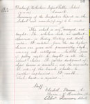 Extract from Log Book of Law Public School, Law, Lanarkshire, 1902
