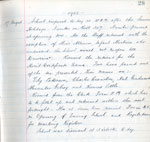 Extract from Log Book of Law Public School, Law, August 1903