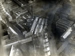 Aerial photograph showing Rashiewell Works, Constable Works, Hillbank Works and Albert Mill, Dundee, 8 January 1923