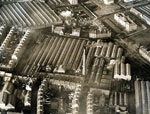 Aerial view of Caldrum Works, parts of Bowbridge Works and Hillbank Linen Works, Dundee, 11 December 1922