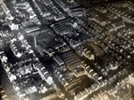 Aerial view of Maxwelltown Works, Dundee, 11 January 1923