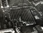 Aerial photograph showing Manhattan Works, Dundee, 11 December 1922