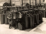 "An ""18-into-9"" drawing carding machine at the Baltic Works, Dundee, 1934"