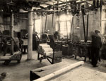 Area of a workshop used for shuttle manufacture, Dundee, c1920