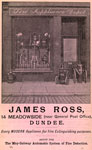 Advert for James Ross, Fire Appliance Depot, Dundee, 1903