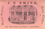 Advert for J.P.Smith, Clothier, Dundee, 1864