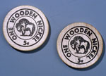 Two woodens nickels