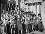 Loanhead Girl Guides on a field trip, 1932