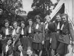 First Loanhead Girl Guides at camp, around 1929