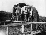 Building a hut, during World War I