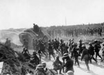 Advance on Bapaume, France, during World War I