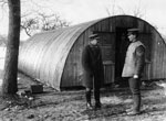 Nissen hut, France, during World War I