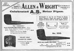 Advertisement for Allen & Wright's briar pipes