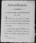 Broadside regarding the sale of a farm in Roxburghshire