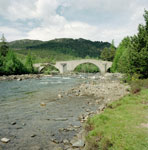Bridge of Dee, Invercauld, Aberdeenshire, from the south-east