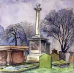 Watercolour from 'Memorials in the Houff, Dundee'