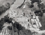 Aerial view of Donside Papermill