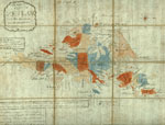 1800s map of Shetland
