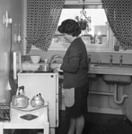 Kitchen of new Leith flat, 1966