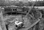 Demolishing Waverley Market 1982