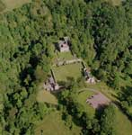 Aerial view of Craignethan Castle, South Lanarkshire