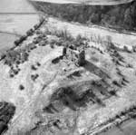 Aerial view of Dundonald Castle, South Ayrshire