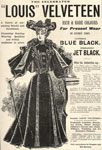 Advert for 'Louis' Velveteen dress fabric
