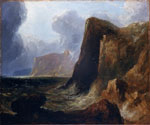 """Wolf's Crag"" by John Thomson of Duddingston, c 1820s"