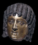 Bronze head of a man