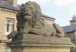 A Lion at Victoria Square, Saltaire
