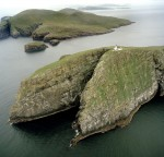 Barra Head, Berneray, Western Isles, Scotland - Aerial View