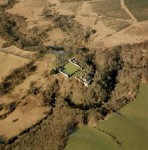 Craignethan Castle, South Lanarkshire, Scotland - Aerial View