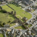 Arbroath Abbey, Angus, Scotland - Aerial View