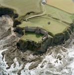 Tantallon Castle, East Lothian, Scotland - Aerial View