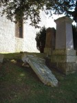 Balmaclellan Parish Church Graveyard: subsidence damage