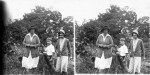 John Mackinlay de Meza and his mother and a friend in their Nyasaland garden