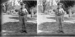 John Mackinlay de Meza wearing a cub scout's uniform in Nyasaland