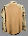 Bullet damaged Under Body Armoured Combat (U-BAC) shirt